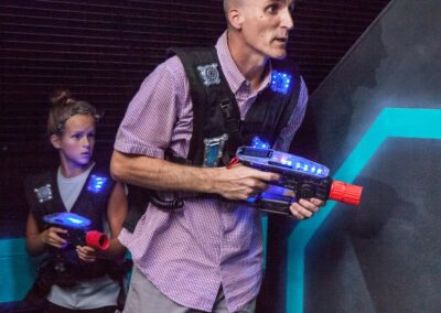Laser Tag at Amp Up with all ages